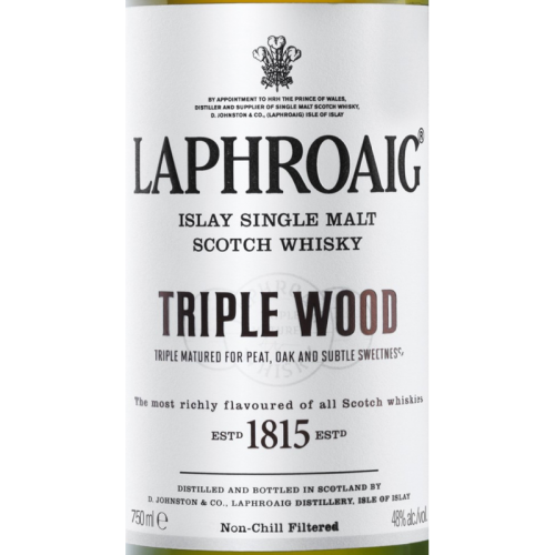 Laphroaig Triple Wood Single Malt Scotch Whiskey