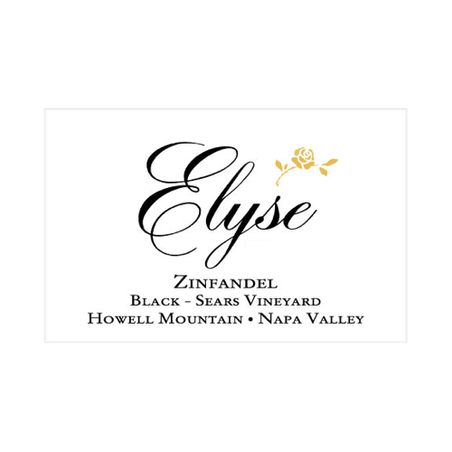 2010 Zinfandel Black Sears Vineyard Howell Mountain - Elyse Winery