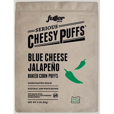 Serious Cheesy Puffs Blue Cheese Jalapeño - Fuller Foods