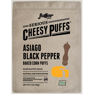Serious Cheesy Puffs Asiago Black Pepper - Fuller Foods